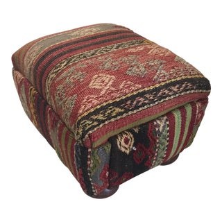 Kilim Rug Ottoman