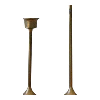 Vintage Brass Candle Stick Holders - A Pair