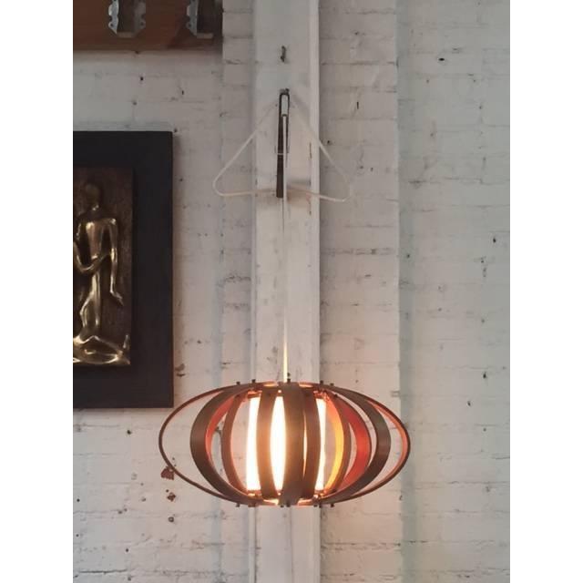 Vintage Bent Wood Wall Mounted Lamp - Image 2 of 6