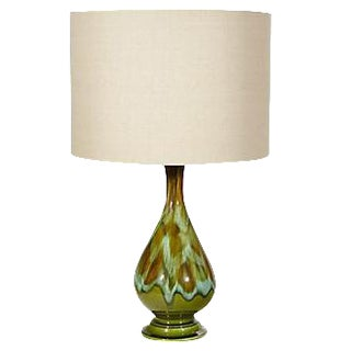 1960s Drip Glaze Table Lamp
