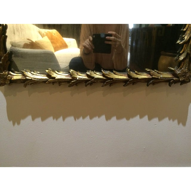 Vintage 1950s Rectangular Gilded Mirror - Image 6 of 8