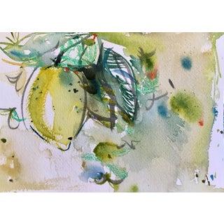Lemon, Watercolor Painting