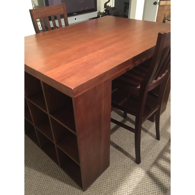 Pottery Barn Project Table & Two Matching Chairs - Image 5 of 8
