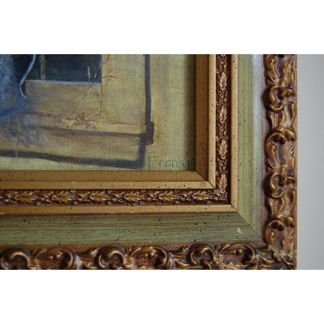Image of Framed Still Life Painting of Wild Flowers