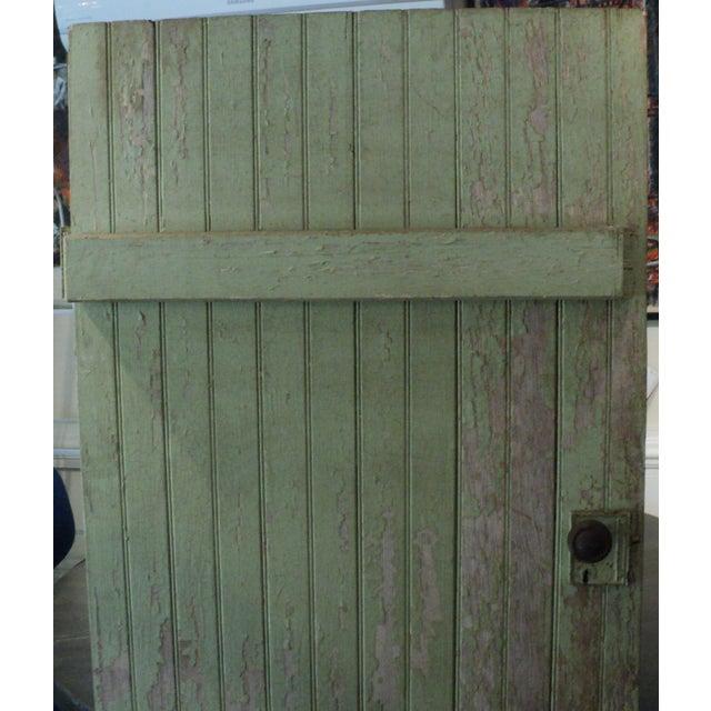 Image of Antique Painted Farm Barn Door