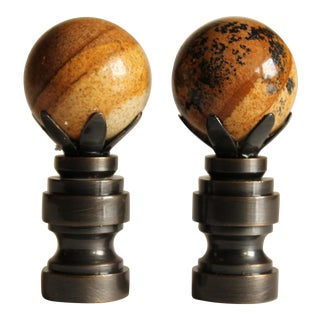 Picture Jasper Lamp Finals - A Pair