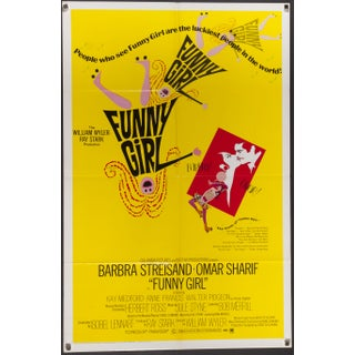 Original Funny Girl 1968 Film Poster
