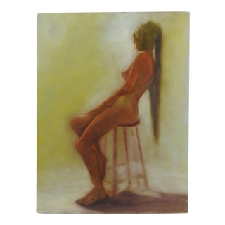 Studio Nude Oil on Canvas Painting