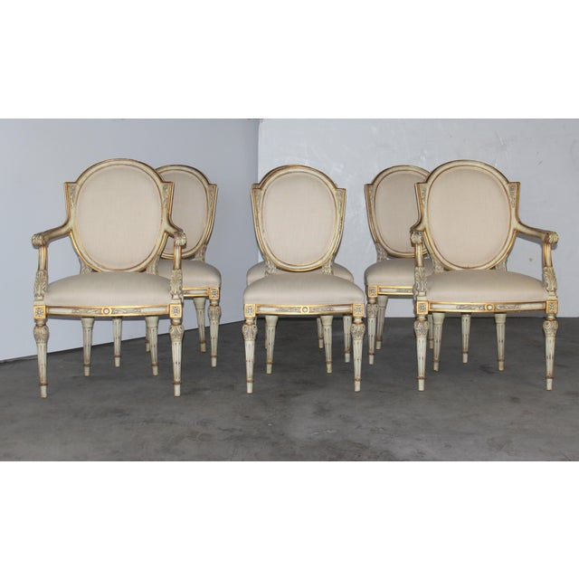 Karges Neoclassical Style Dining Chairs - Set of 6 - Image 2 of 6
