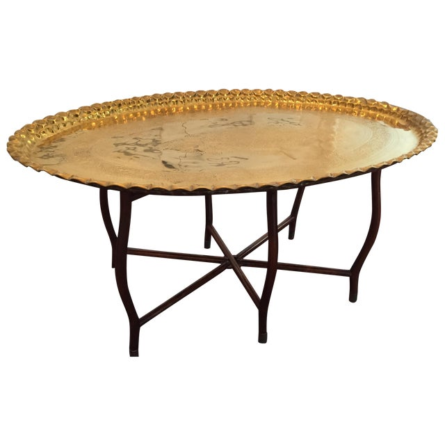 Large Oval MCM Brass Tray Coffee Table