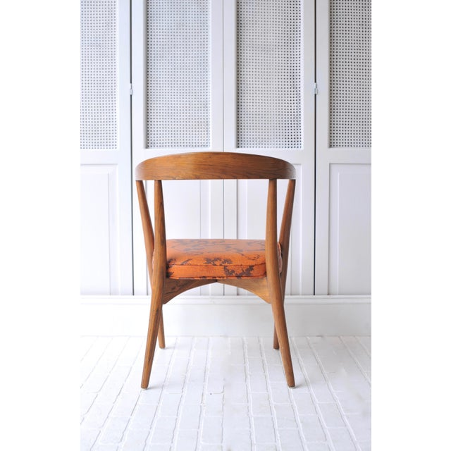Lawrence Peabody Walnut Chairs - Set of 4 - Image 3 of 11