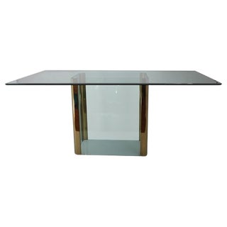 70s Pace Collection Brass & Glass Dining Table
