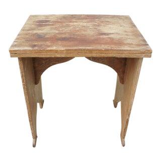 Primitive Folding Wooden Table