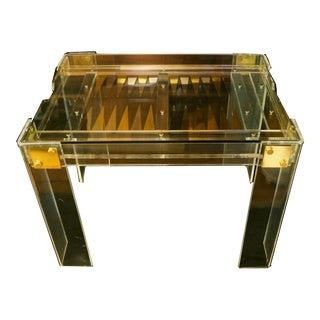 Charles Hollis Jones Lucite & Glass Backgammon/Dining Table