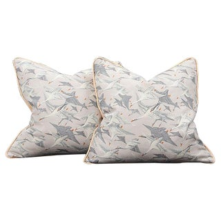 Wild Geese Pillows - A Pair