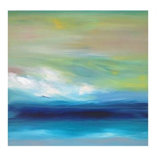 """OceanScape"" Original Abstrast Seascape Oil Painting"