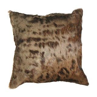 Blue Wildebeest Skin Pillow