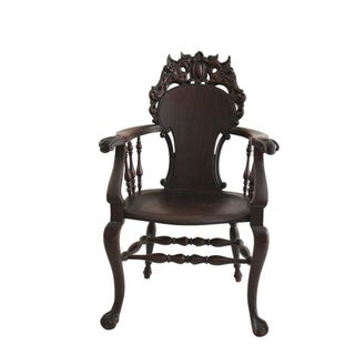 Winged Griffin Claw & Ball Mahogany Armchair
