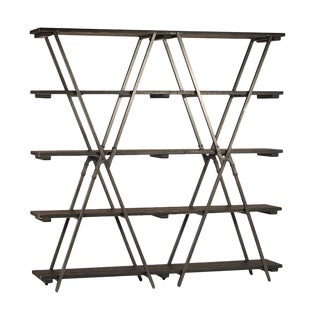 Industrial Wood & Metal X Bookcase