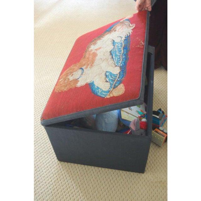 Needlepoint Ottoman Hinged Box - Image 3 of 5