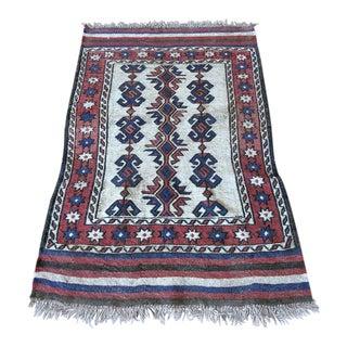 "Vintage Kilim Persian Hand Woven Rug - 2'7"" x 4'1"""