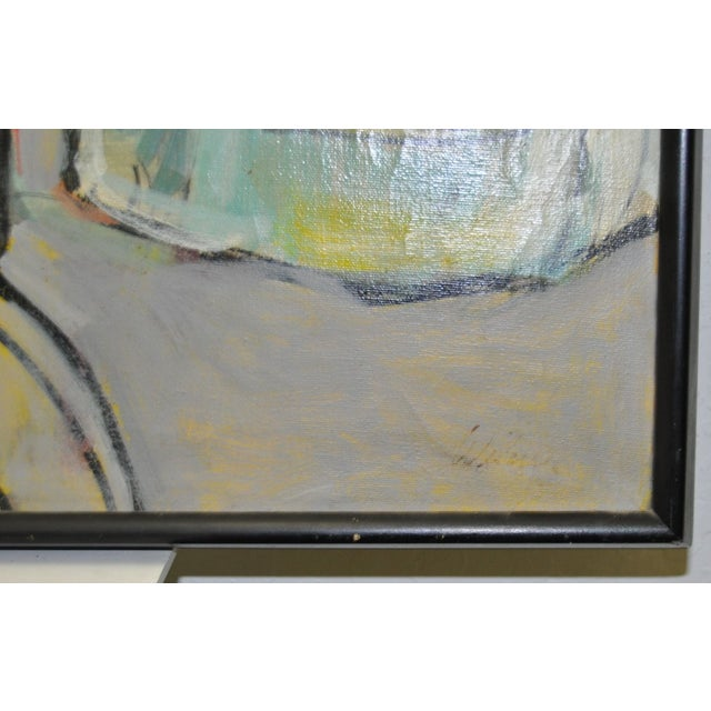 Image of 1970's Vintage Abstract Painting