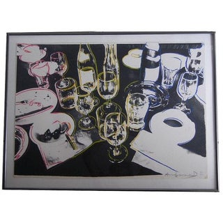 "Andy Warhol Screenprint ""After the Party"" Signed"