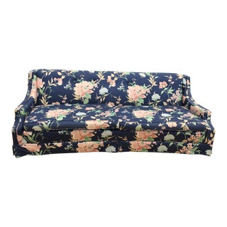 Vintage Blue & Pink Floral Couch