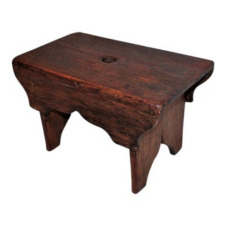 19th Century Natural Surface Country Stool