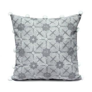 Grey Jasmine Pom Poms Pillow