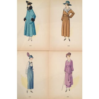 Original 1915 French Fashion Plates - Set of 4