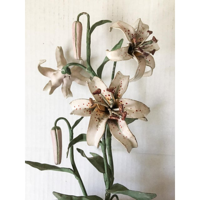 Italian Tole Potted Lily Plant - Image 4 of 8
