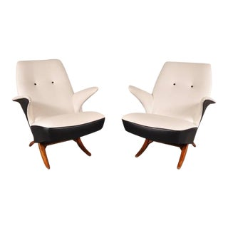 Pair of Penguin Chairs by Theo Ruth for Artifort, the Netherlands, 1957