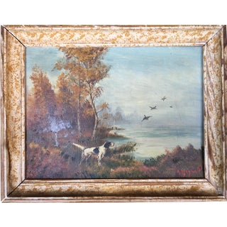 English Hunting Dog Oil Painting