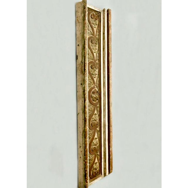 French Gilded Hand Carved Architectural Element Wall Panel c.1900 - Image 3 of 5