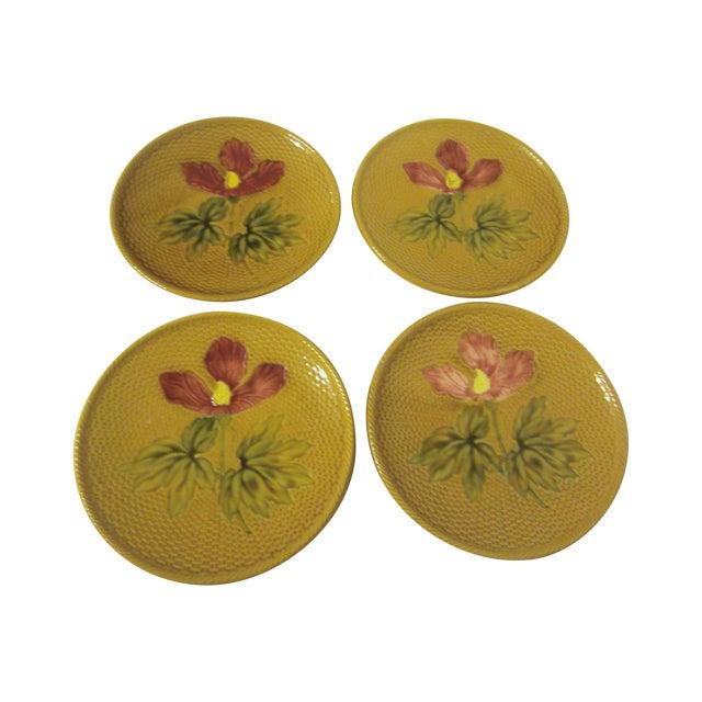 1940's German Majolica Dessert Plates - Set of 4 - Image 1 of 8