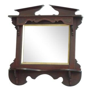 19th C. Crown Design Entry Shelf