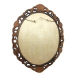 Image of 1940s Rococo Hand Carved Wooden Mirror