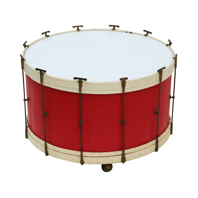 Round Drum Table on Casters - Image 5 of 6