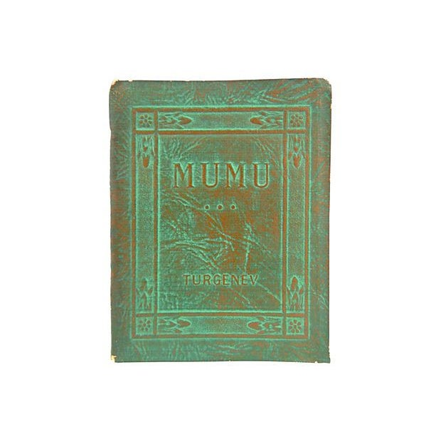 1920s Turgenev's Mumu Leather Book - Image 1 of 3