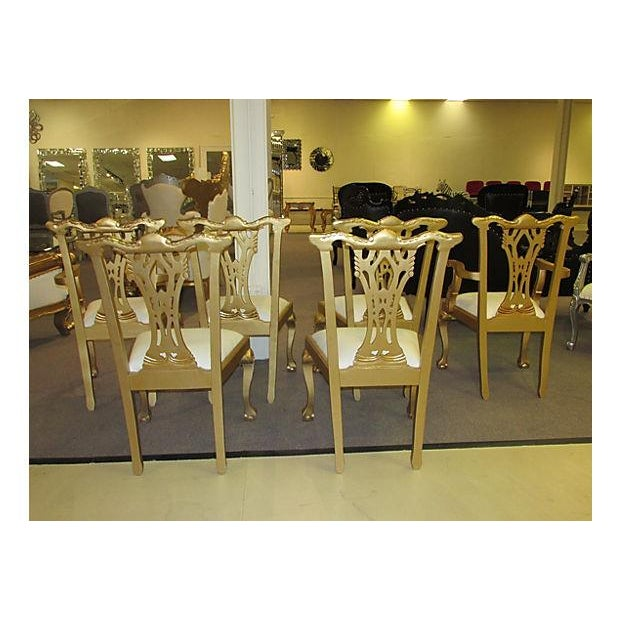Gold Dinning Chairs - Set of 6 - Image 4 of 6