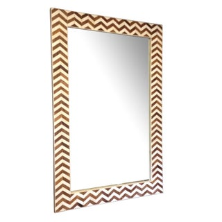 Natural Bone Chevron Mirror