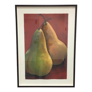 Limited Edition Two Pears Iris Giclee Print by Sylvia Gonzales