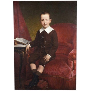 Oil Painting of a Young Boy