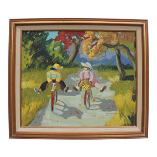 J. Thompson Expressionist Oil Painting
