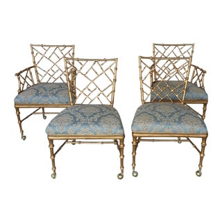 Phyllis Morris Style Chinese Chippendale Chairs -4