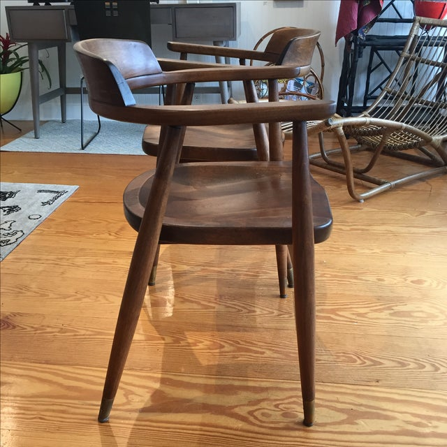 Mid-Century Captain's Chairs - A Pair - Image 8 of 10