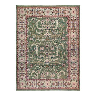"""Eclectic Hand Knotted Area Rug - 9' 0"""" X 11' 9"""""""