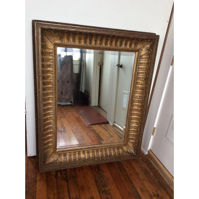 Antique Framed Carved Wood Mirror - Image 9 of 9
