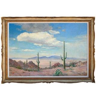 Desert Saguaro Painting